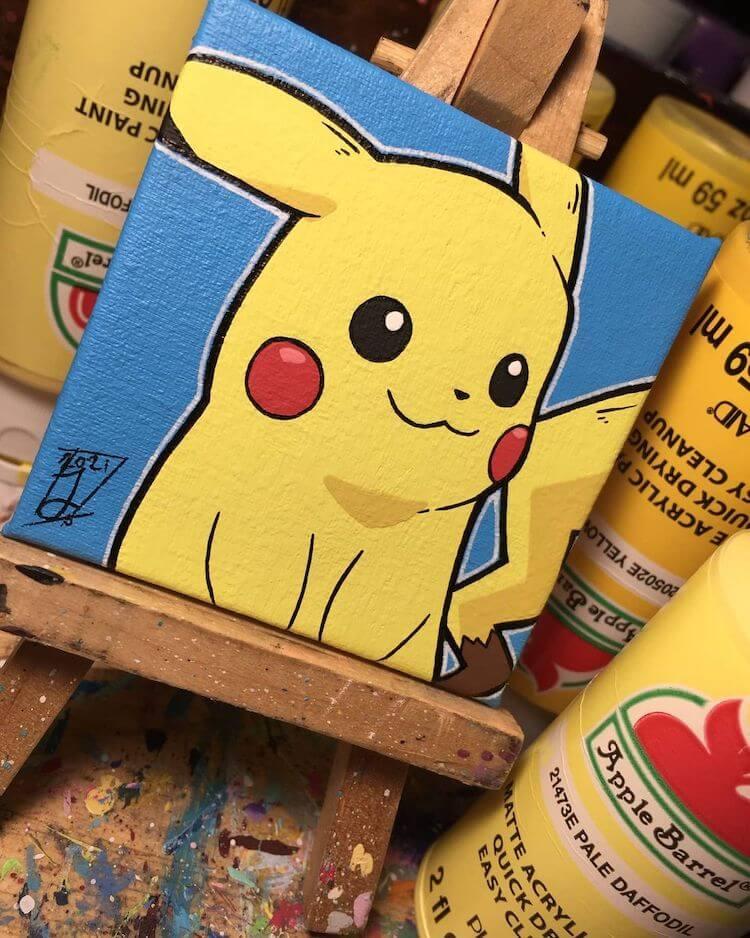 pikachu painting