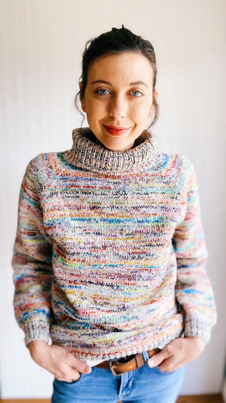 Stash Dive Raglan Knit Sweater