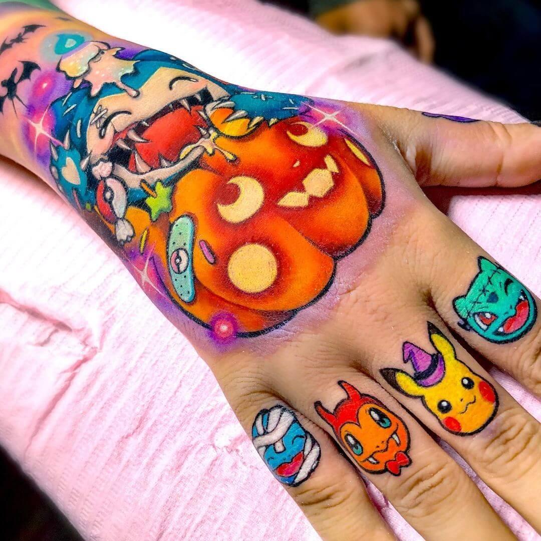 Pokemon Halloween tattoo