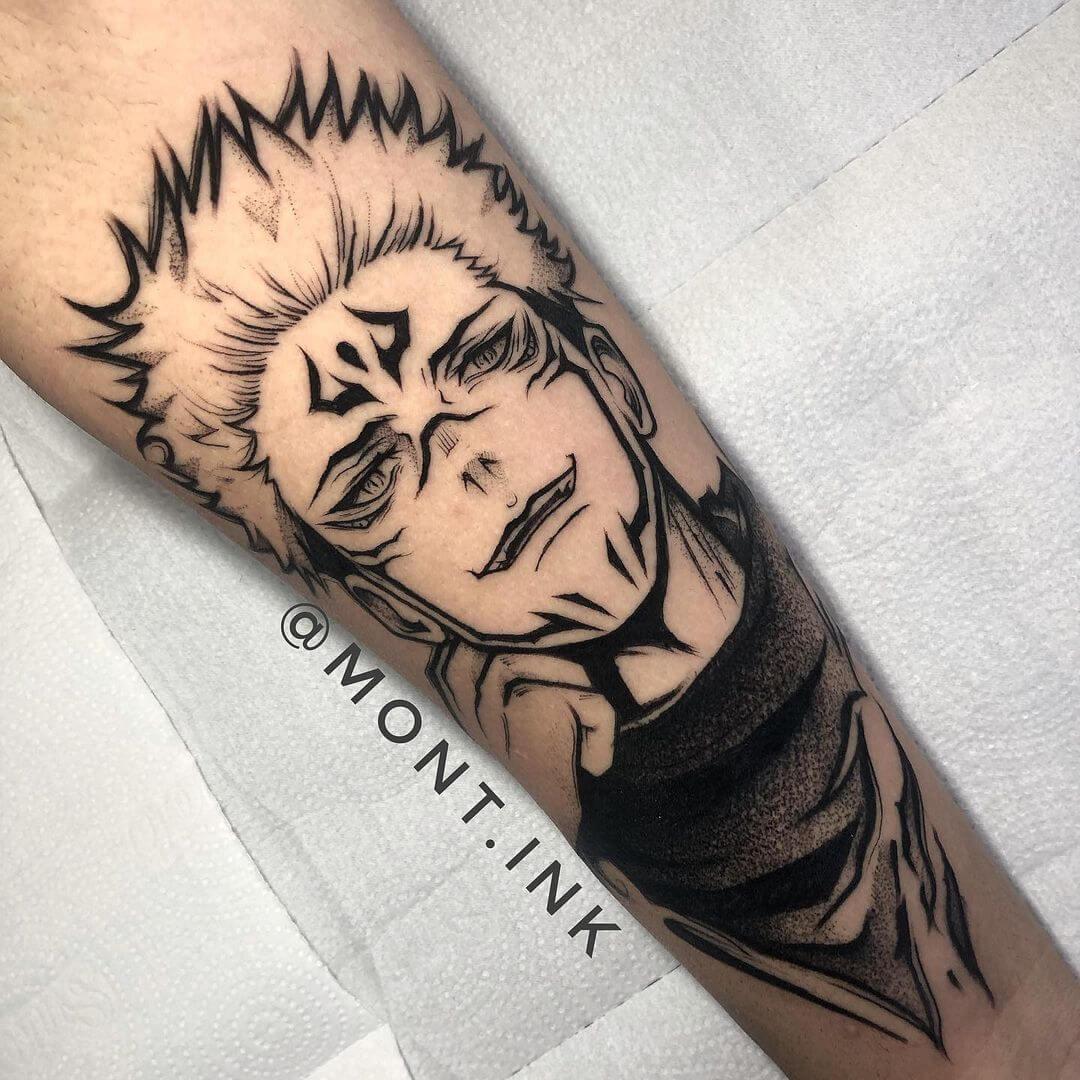 Jujutsu Kaisen Sukuna Tattoo