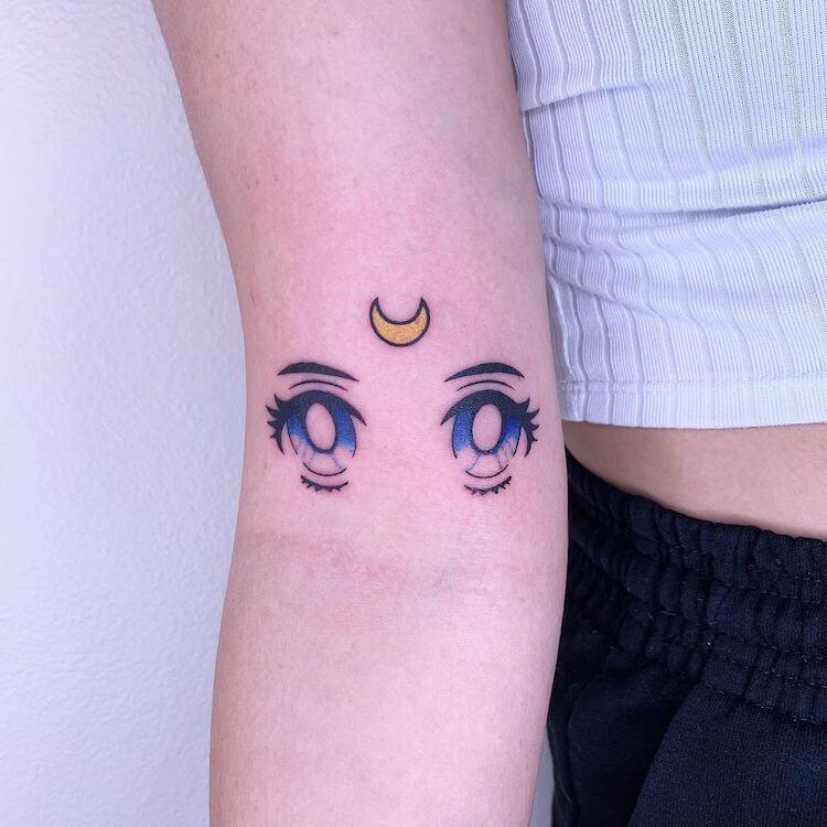 sailor moon eyes tattoo