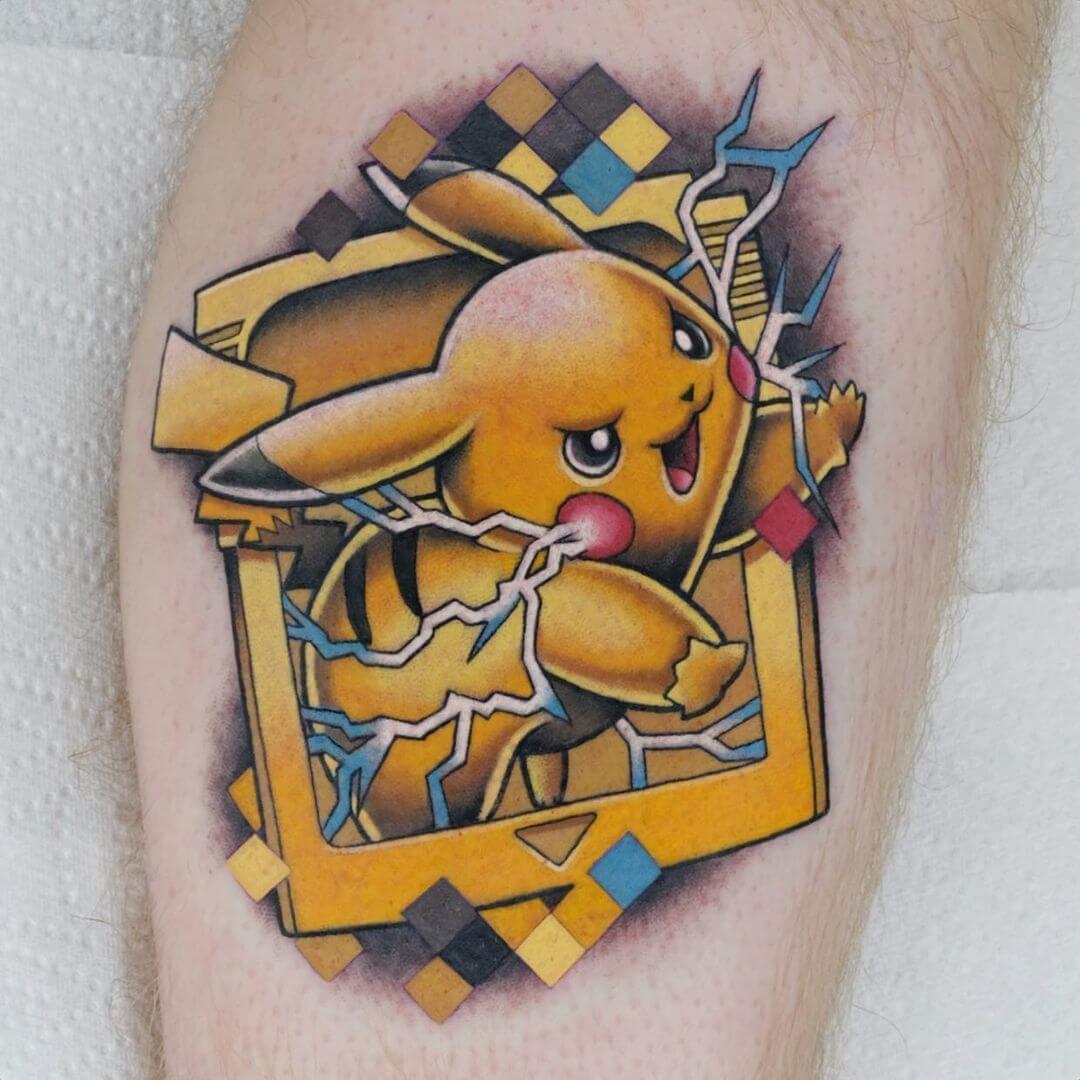 Pikachu Pokemon tattoo