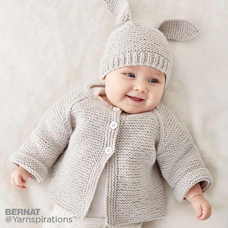 Knit baby Jacket Set