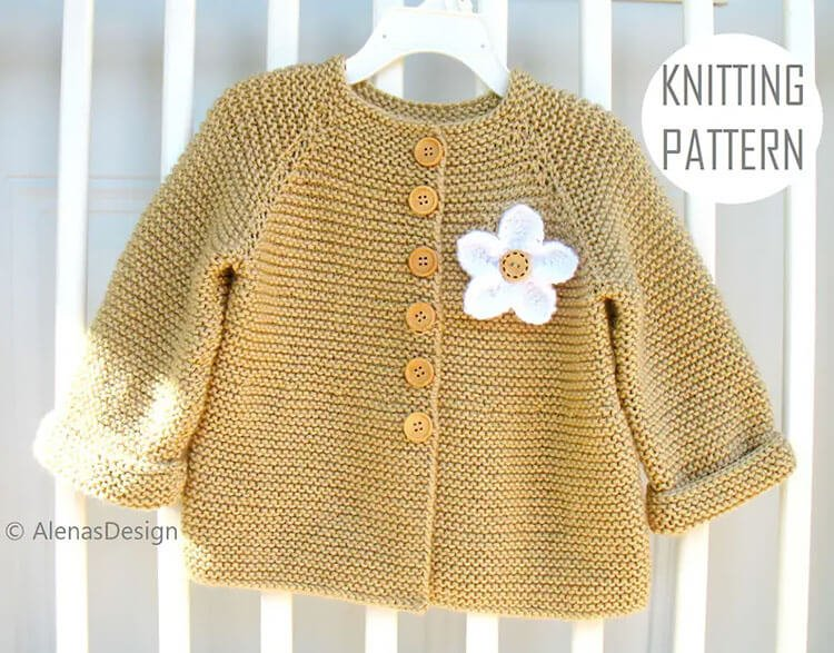 Baby Cardigan with Embellishments