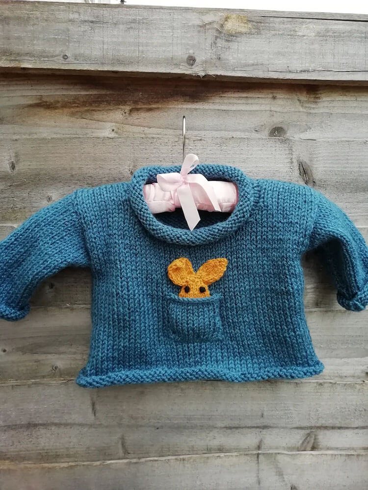 Beginner Knitted Baby Sweater