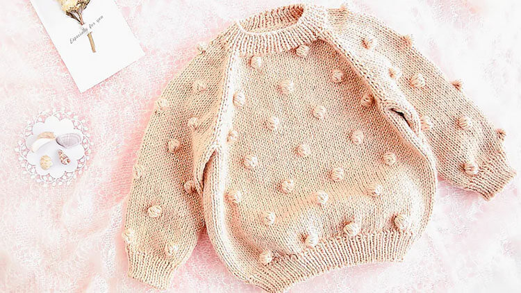 Popcorn Knitted Sweater
