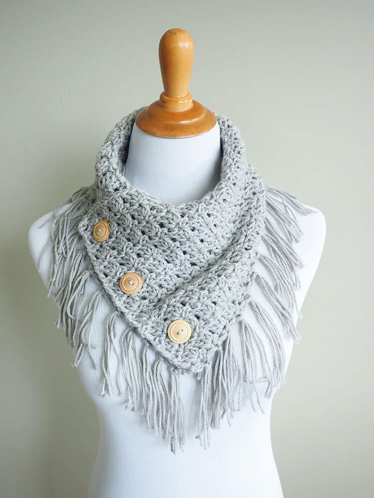 The Breezy Buttoned Cowl