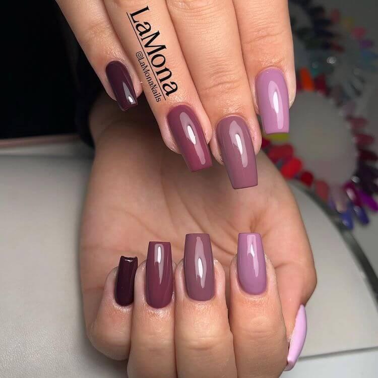 ombre purple nails